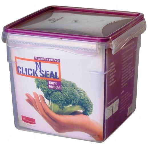 برينس وير - وعاء Click N بغطاء لحفظ وتخزين الأطعمة 4100 مل