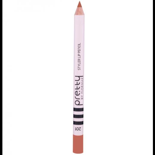 بريتي باي فلورمار - قلم تحديد الشفاه ستايلر 201 Nude Beige