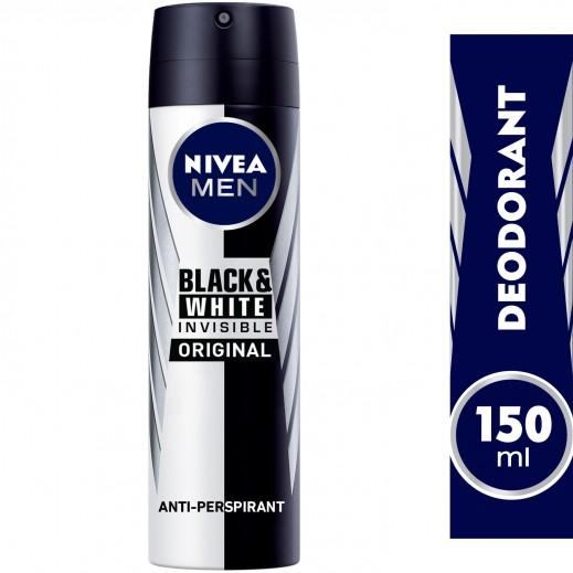 """نيڤيا – مزيل عرق """" إنڤيزيبل"""" سبراي للملابس السوداء والبيضاء  للرجال  150 مل"""