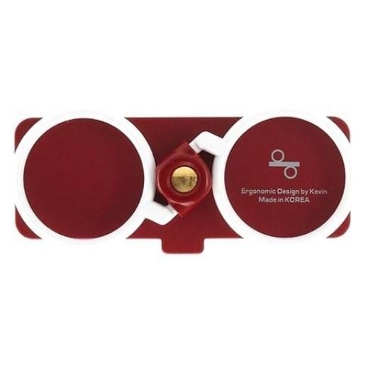 Keeep Heart مثبت للهواتف عن طريق الاصبع لون احمر KP01-601