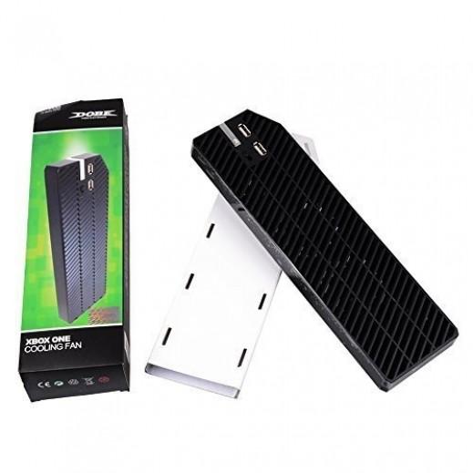 دوبي – مروحة تبريد لجهاز الألعاب Xbox One والاكسسوارات مع 2 منفذ USB – أسود