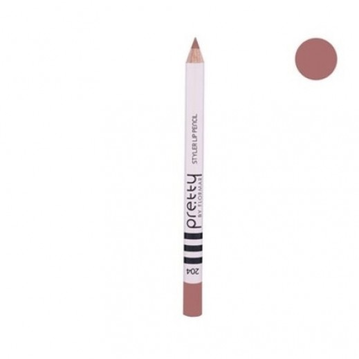 بريتي باي فلورمار - قلم تحديد الشفاه ستايلر 204 Rose Tendre