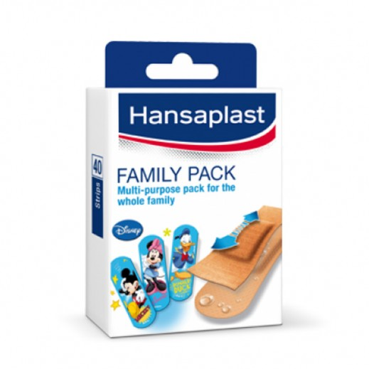 Hansaplast Family Pack Bandages Assorted 40 Strips