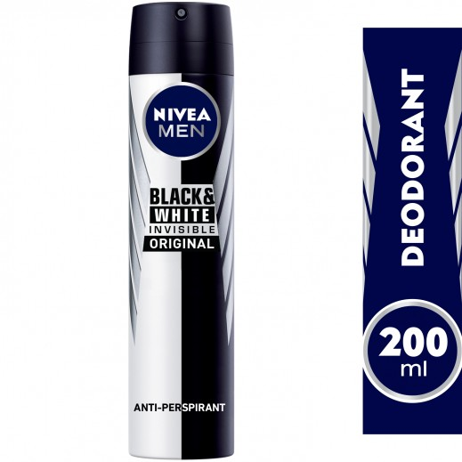 """نيڤيا – مزيل عرق """" إنڤيزيبل"""" سبراي للملابس السوداء والبيضاء  للرجال  200 مل"""