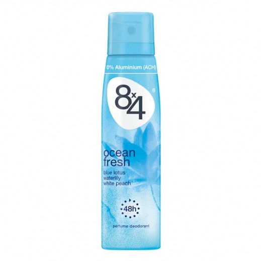 8X4 Ocean Fresh Deodorant Spray Women 150 ml
