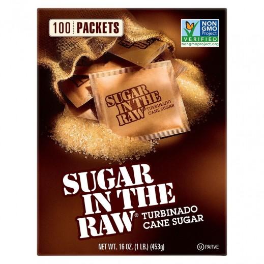 شوجر إن ذا رو - سكر خام طبيعي خالي من الجلوتين 100 كيس