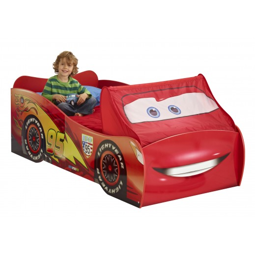 Lightning McQueen Single Bed with Slats  - يتم التوصيل بواسطة Taby Group