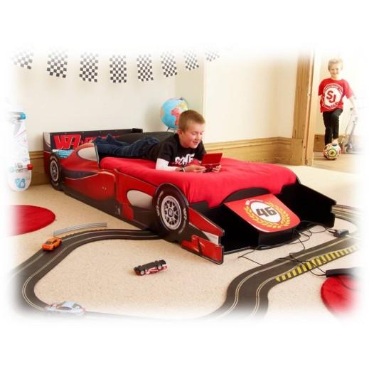سرير للأطفال بتصميم سيارة وأدراج جانبية من ديزني  - يتم التوصيل بواسطة Taby Group