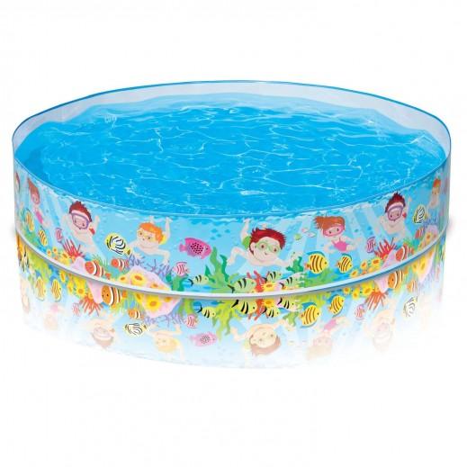 إنتكس – حمام دائري للسباحة بأنبوبة التنفس  152 × 25 سم