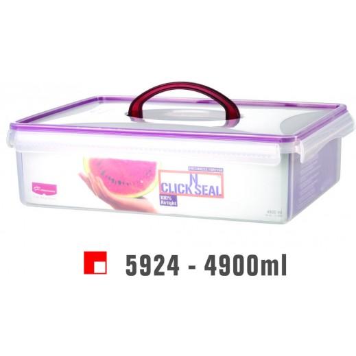 برينس وير - وعاء Click N بغطاء لحفظ وتخزين الأطعمة 4.900 لتر