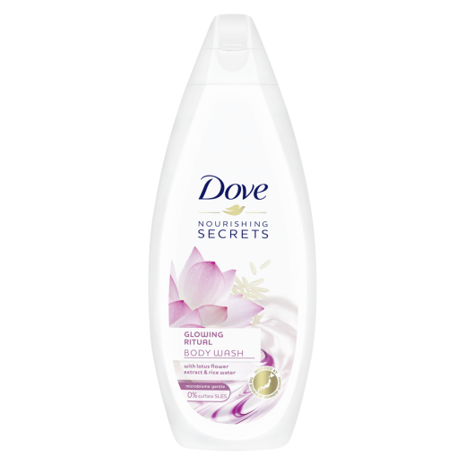 دوف - غسول الجسم بخلاصة زهرة اللوتس وحليب الأزر 250 مل