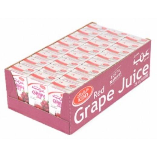 كى دى دى - عصير العنب الأحمر 250 مل ( 24 حبة )