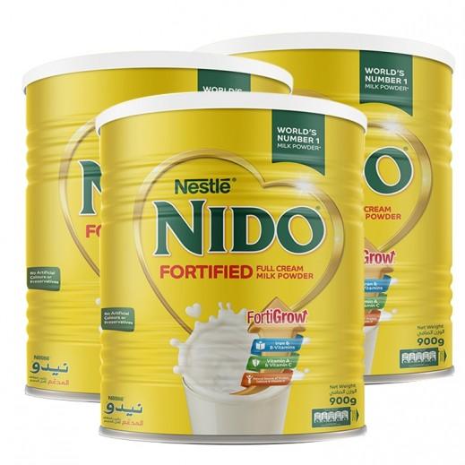 نيدو – حليب مُجفف مُدعم 3 حبة × 900 جم– منتجات الجملة