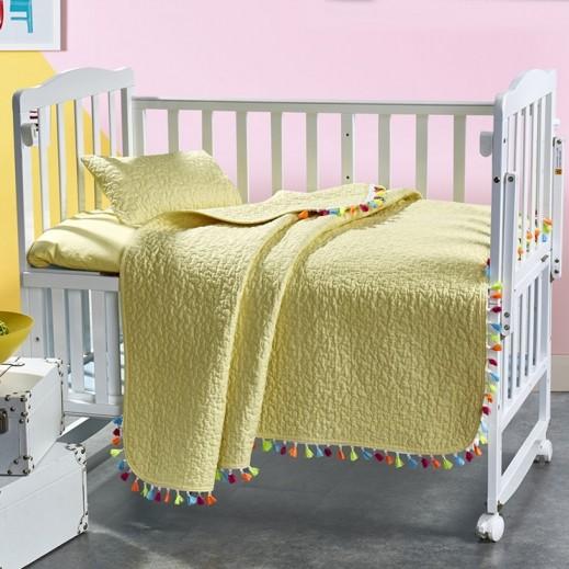 كانون - طقم غطاء سرير بيج للأطفال 3 قطع 110×140 سم - يتم التوصيل بواسطة SFC