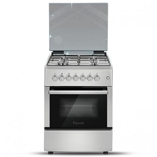 فيرري – طباخ غاز 4 شعلة 60×60 – فضي - يتم التوصيل بواسطة AL ANDALUS TRADING COMPANY