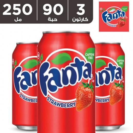فانتا – شراب الفراولة 250 مل ( 3 كرتون × 30 حبة )