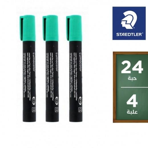 ستدلر – أقلام تعليم بحبر ثابت (352– 5) – أخضر (24 قلم) – منتجات الجملة