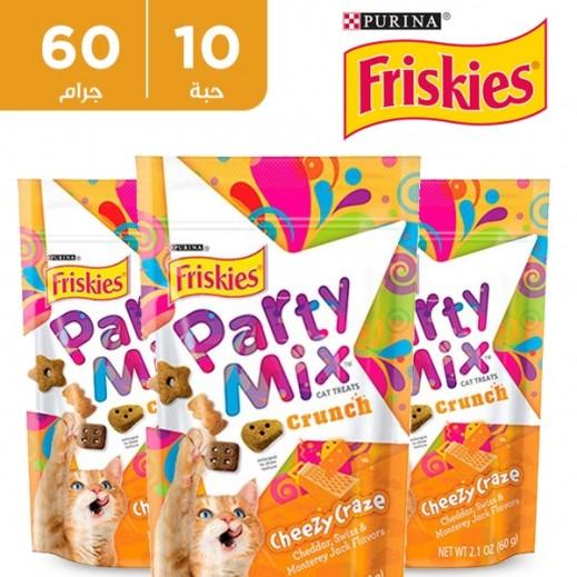 فرسكس – طعام القطط من الجبنة المشكلة بارتي ميكس 60 جم (10 حبة) - أسعار الجملة