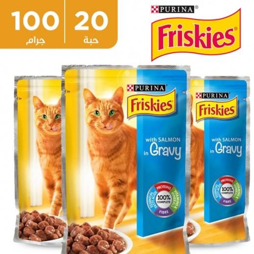بورينا – طعام فريسكس سلمون في المرق (طعام القطط) 100 جم  (20 حبة) - أسعار الجملة