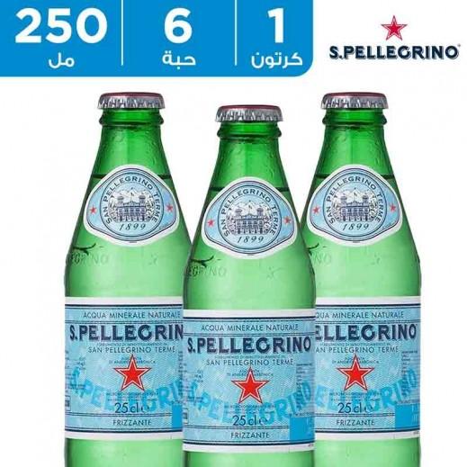 سان بيليغرينو – مياه معدنية طبيعية فوارة عبوة زجاج 6 × 250  مل