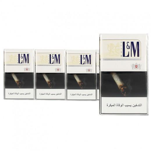 إل إم - سجائر إل إم أبيض - كرتون