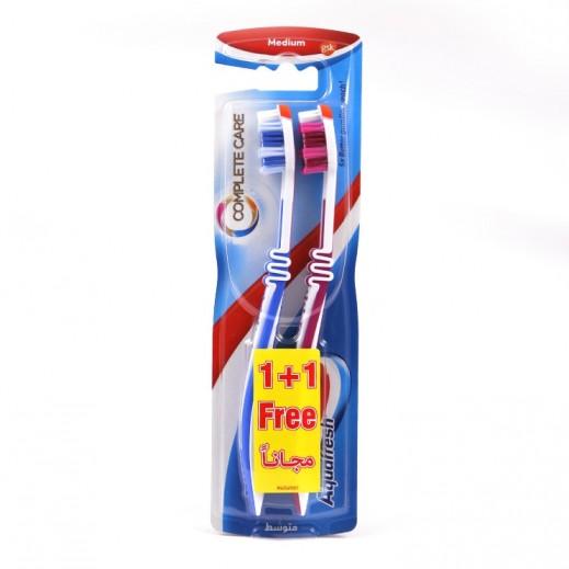 """أكوافريش – فرشاة أسنان """"Complete Care"""" - متوسطة (1+1 مجانا)"""
