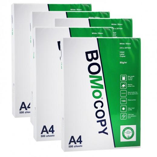 بومو - ورق طباعة A4 عدد 500 ورقة (5  حبة)