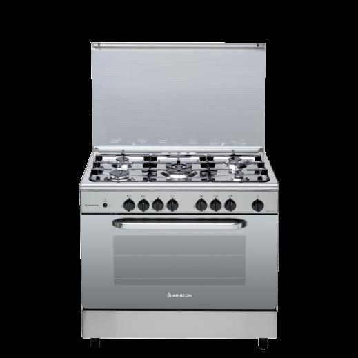 أريستون – طباخ غاز 5 شعلة 90×60 سم – ستانلس ستيل - يتم التوصيل بواسطة AL ANDALUS