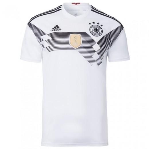 أديداس - تى شيرت منتخب ألمانيا في كاس العالم 2018 لكرة القدم – مقاس صغير 128-164 سم