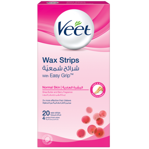 ﭬيت - شرائح شمعية لإزالة الشعر للبشرة العادية - 20 شريحة