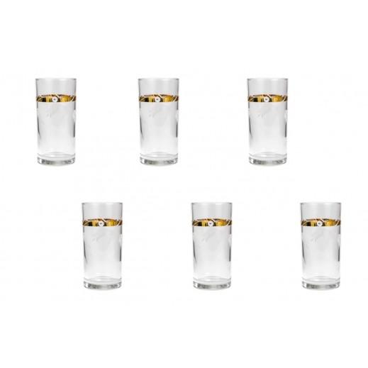 بنجوين – طقم أكواب مياه 6 قطعة - ذهبي