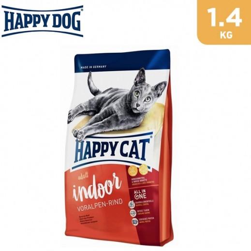 Happy Cat Indoor Beef Cat Food 1.4 kg