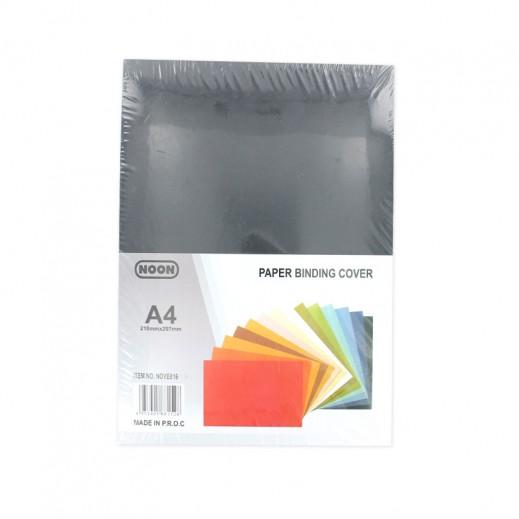 نون – ورق تغليف ملزمة A4 - أسود