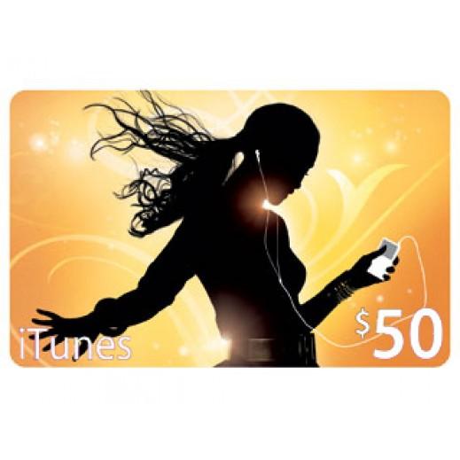 آي تونز - بطاقة تعبئة بقيمة 50 دولار