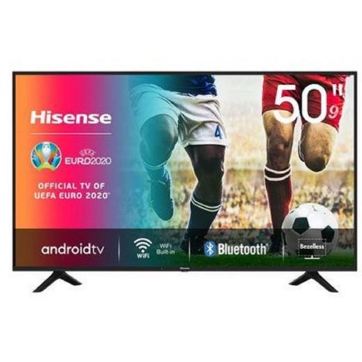 هايسنس – 50 بوصة تلفزيون ذكي أندرويد UHD 4K – أسود - يتم التوصيل بواسطة AL ANDALUS بعد 3ايام عمل