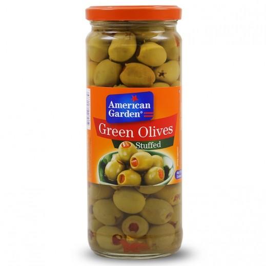أميريكان جاردن– زيتون أخضر حبات كاملة 450 جرام