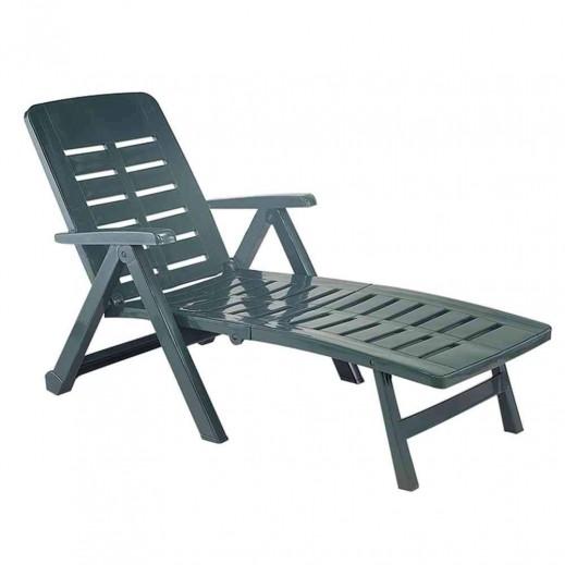 بروجاردن - كرسي شيزلونج بلاستيك أخضر - 72 × 189 × 96 سم