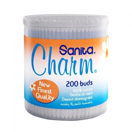سانيتا شارم - أعواد قطنية دائرية 200 عود