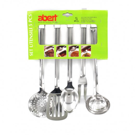 ألبيرت – طقم أدوات المطبخ من الستانليس ستيل – 5 حبة