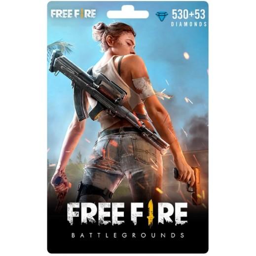 بطاقة فورية للعبة Free Fire بقيمة 5 دولار 530 + 53 ماسة