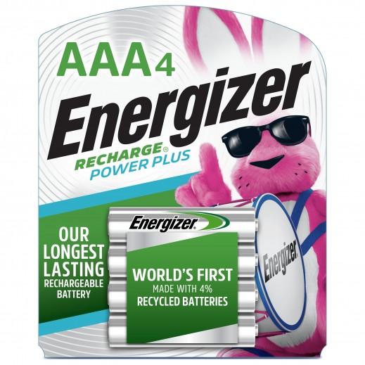 انرجايزر - بطاريات AAA قابلة لاعادة الشحن - 4 حبة