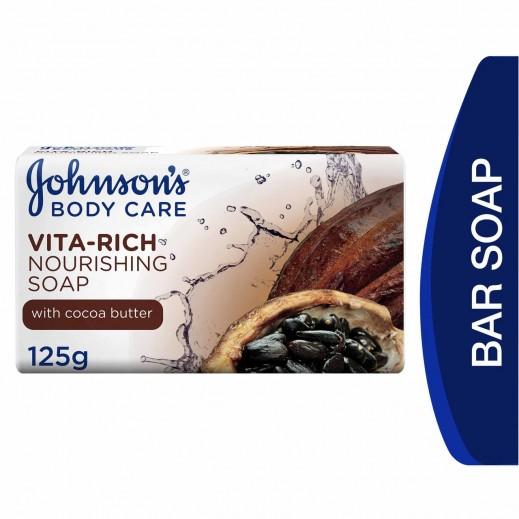 جونسون، صابون للاستحمام، Vita-Rich، تغذية، 125 جم