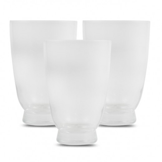 بورميولي روكو - طقم أكواب زجاجية بسعة 355 مل – 3 حبة (شفاف)