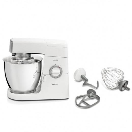 كينوود KM636 جهاز مطبخ رئيسي كلاسيكي للطباخ 900 واط - لون ابيض/فضي - يتم التوصيل بواسطة Jashanmal & Partners