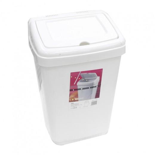 جيجان بلاست - سلة غسيل بغطاء - أبيض
