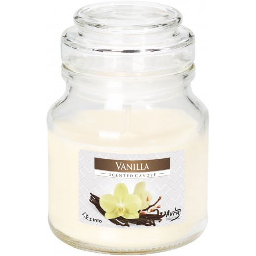أورا - شمع معطر بغطاء فانيلا 120 جم