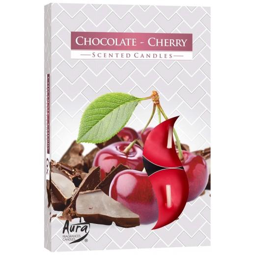 أورا - شمع معطر برائحة كريز الشوكولاته 66 جم - 6 حبة