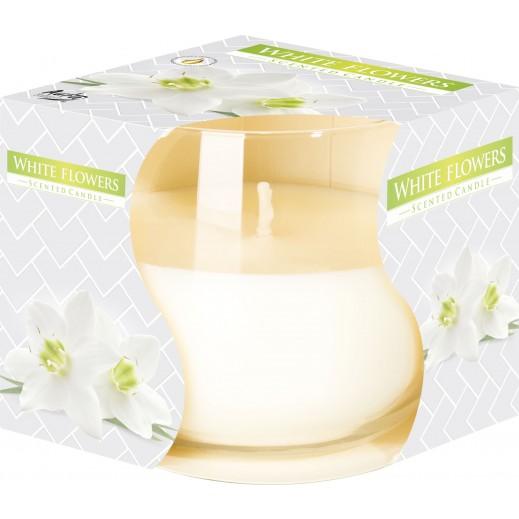 أورا - شمع معطر برائحة الزهرة البيضاء 130 جم