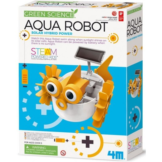 4M Green Science Hybrid Solar Power - Aqua Robot
