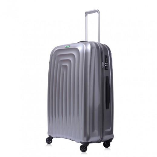 """لوجيل – حقيبة سفر """"ويف"""" بعجل - حجم كبير - فضي"""